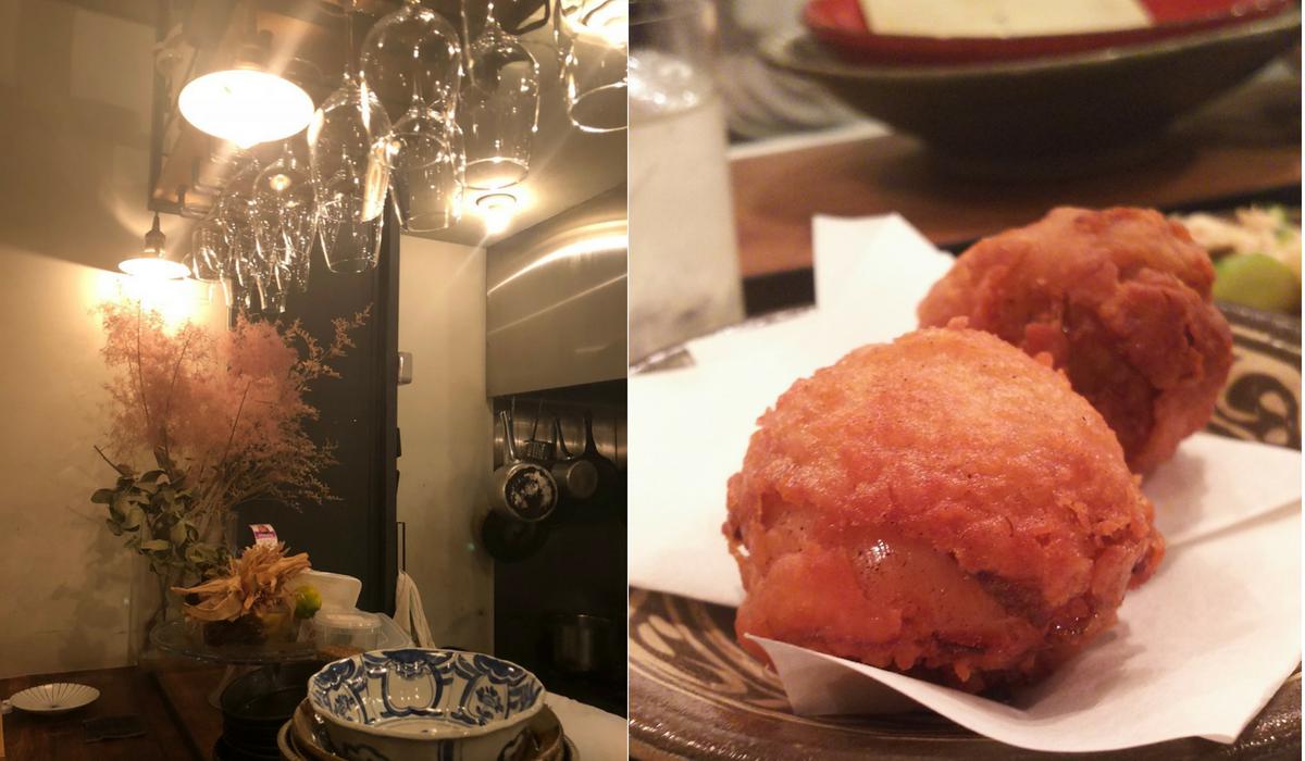 マルサラ食堂、カウンター、唐揚げ